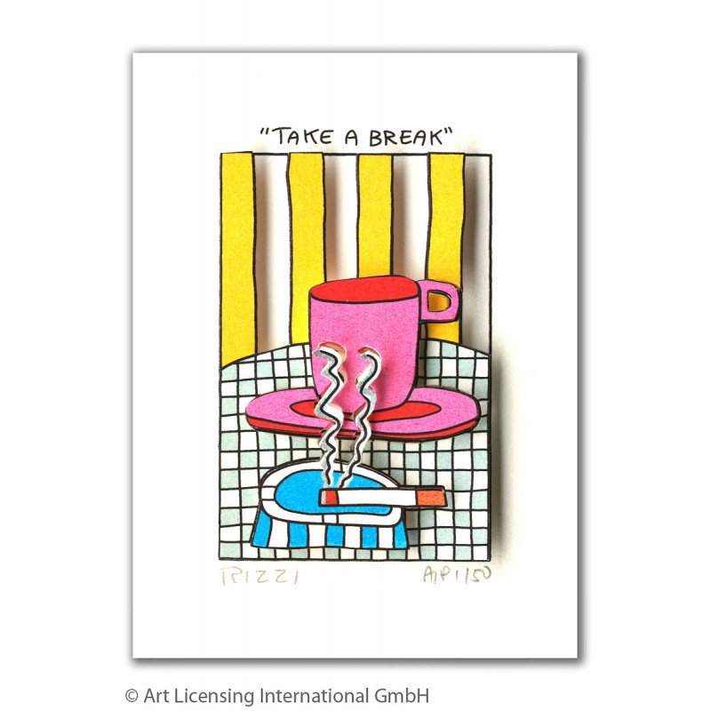 "James Rizzi Bild ""Take a break"" kaufen"