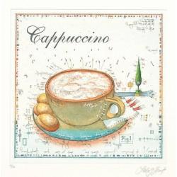 """Leslie Hunt Bilder kaufen Original """"Cappuccino"""" Radierung handsigniert vom Künstler"""