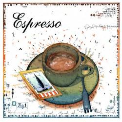 """Leslie Hunt Bilder kaufen Original """"Espresso"""" Radierung handsigniert vom Künstler"""