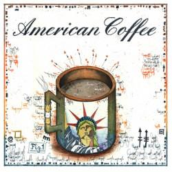 """Leslie Hunt Bilder kaufen Original """"American Coffee"""" Radierung handsigniert vom Künstler"""