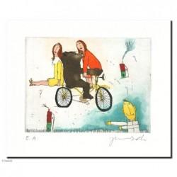 """Original Bild """"2 Schwestern ach Schwestern"""" von Janosch - Kunst mit Zertifikat kaufen"""