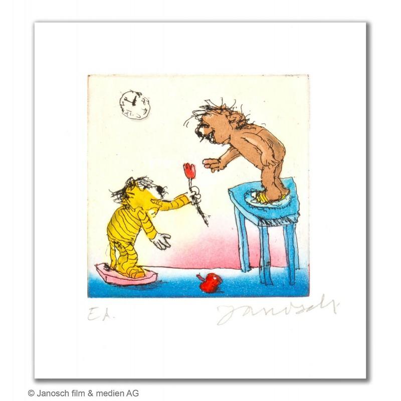 """Original Bild """"Alles Gute liebster Bär"""" von Janosch - Kunst mit Zertifikat kaufen"""