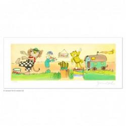"""Original Bild """"Circus"""" von Janosch - Kunst mit Zertifikat kaufen"""