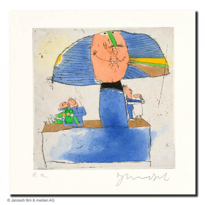 """Original Bild """"Denkmal für unser aller Vater 2003"""" von Janosch - Kunst mit Zertifikat kaufen"""