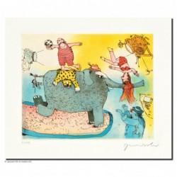 """Original Bild """"Der Elefant steht hier im Licht"""