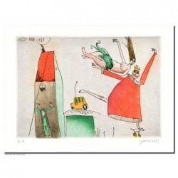 """Original Bild """"Der salomonische König"""" von Janosch - Kunst mit Zertifikat kaufen"""