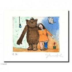 """Original Bild """"Der Strumpf"""" von Janosch - Kunst mit Zertifikat kaufen"""