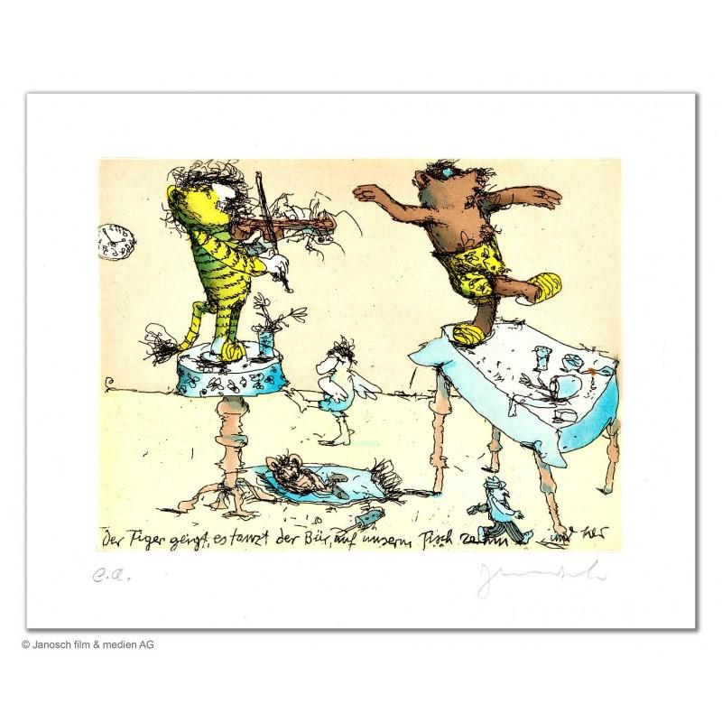 """Original Bild """"Der Tiger geigt"""