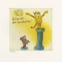"""Original Bild """"Der Tiger ruft """"Nun kommt der Mai"""" von Janosch - Kunst mit Zertifikat kaufen"""