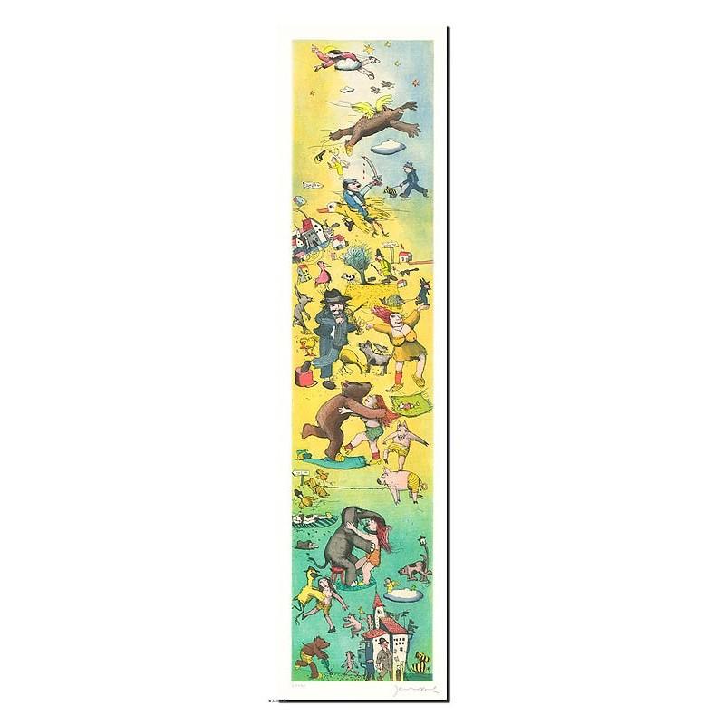 """Original Bild """"Der Weg nach irgendwo"""" von Janosch - Kunst mit Zertifikat kaufen"""