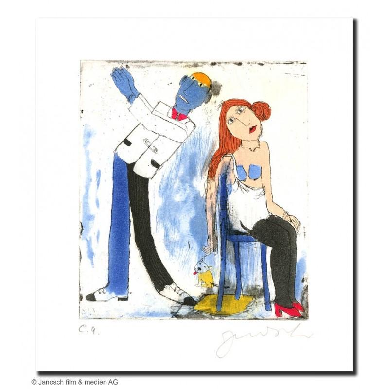 """Original Bild """"Die Geliebte aus Rußland 2003"""" von Janosch - Kunst mit Zertifikat kaufen"""