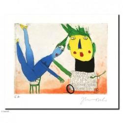 """Original Bild """"Eine faktisch sinnlose Liebe"""" von Janosch - Kunst mit Zertifikat kaufen"""