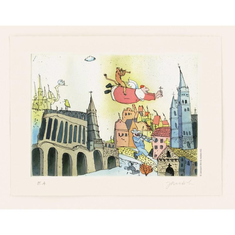 """Original Bild """"Erfurt"""" von Janosch - Kunst mit Zertifikat kaufen"""