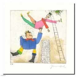 """Original Bild """"Franz und Helenchen"""" von Janosch - Kunst mit Zertifikat kaufen"""