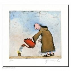 """Original Bild """"Gärtner Pater"""" von Janosch - Kunst mit Zertifikat kaufen"""