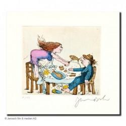 """Original Bild """"Goslar 2 - Gastmahl2"""" von Janosch - Kunst mit Zertifikat kaufen"""