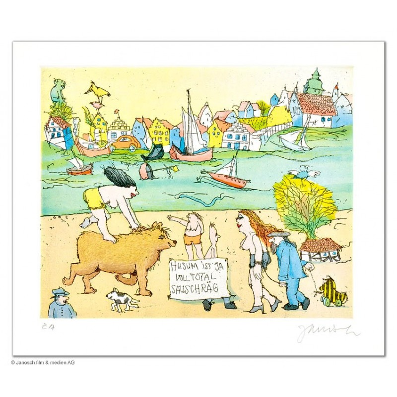 """Original Bild """"Husum ist so schräg"""" von Janosch - Kunst mit Zertifikat kaufen"""