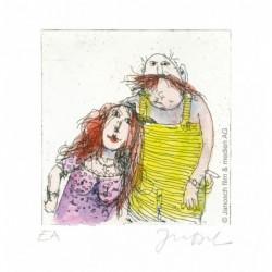 """Original Bild """"Ich + Marie im Herbst 98"""" von Janosch - Kunst mit Zertifikat kaufen"""