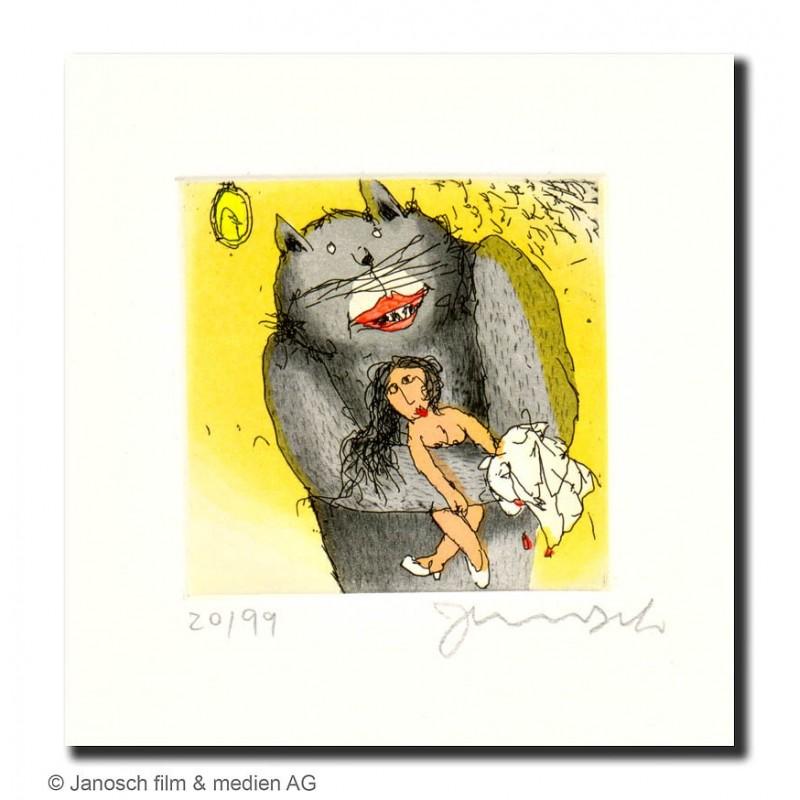 """Original Bild """"Ich liebe Marie"""" von Janosch - Kunst mit Zertifikat kaufen"""