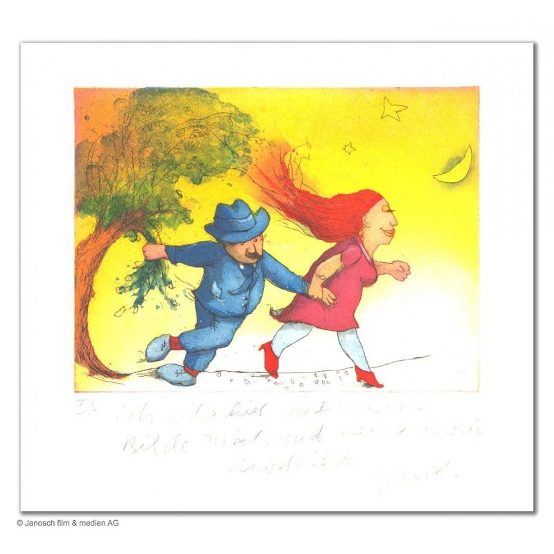 """Original Bild """"Ich sehe hier auf diesem Bilde mich verlobt mit Mathilde"""" von Janosch - Kunst mit Zertifikat kaufen"""