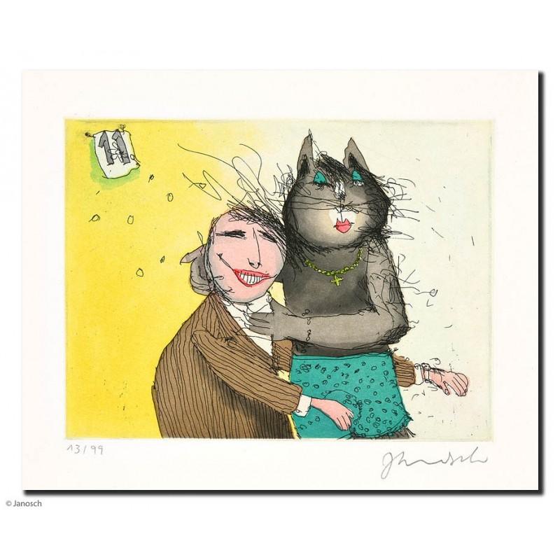"""Original Bild """"Katze No.11"""" von Janosch - Kunst mit Zertifikat kaufen"""