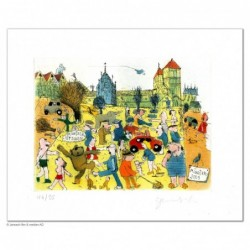 """Original Bild """"Münster ist schön"""" von Janosch - Kunst mit Zertifikat kaufen"""