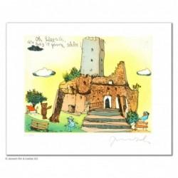 """Original Bild """"Oh Lörrach die Burg ist ganz schön"""" von Janosch - Kunst mit Zertifikat kaufen"""