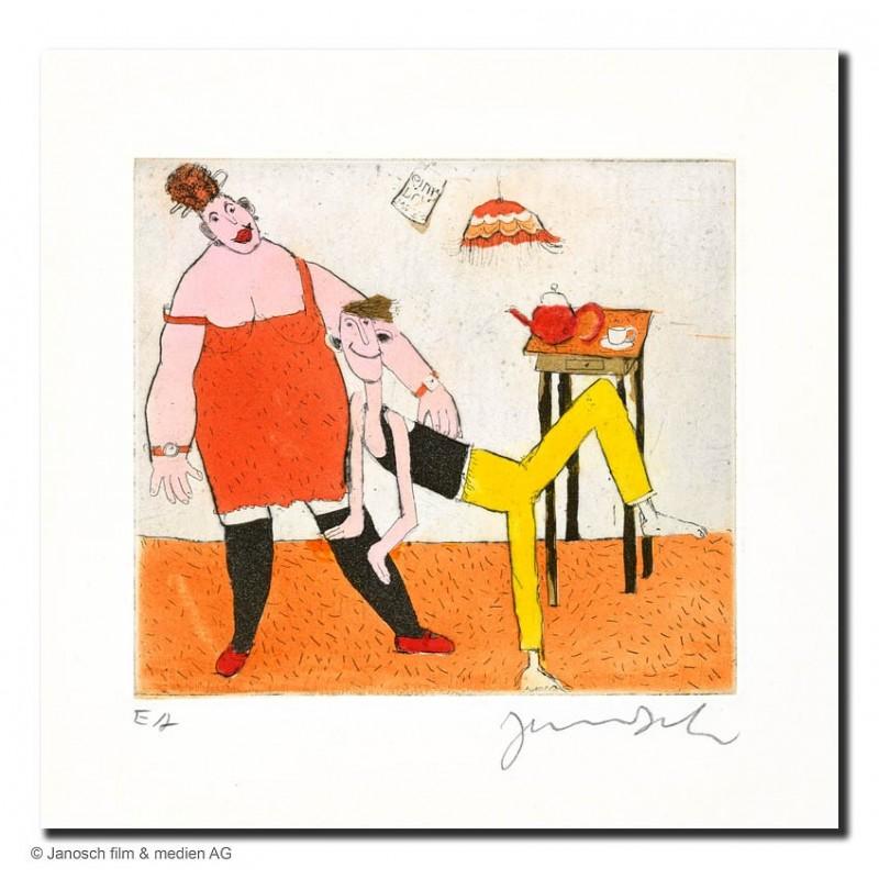 """Original Bild """"Paar 2003"""" von Janosch - Kunst mit Zertifikat kaufen"""