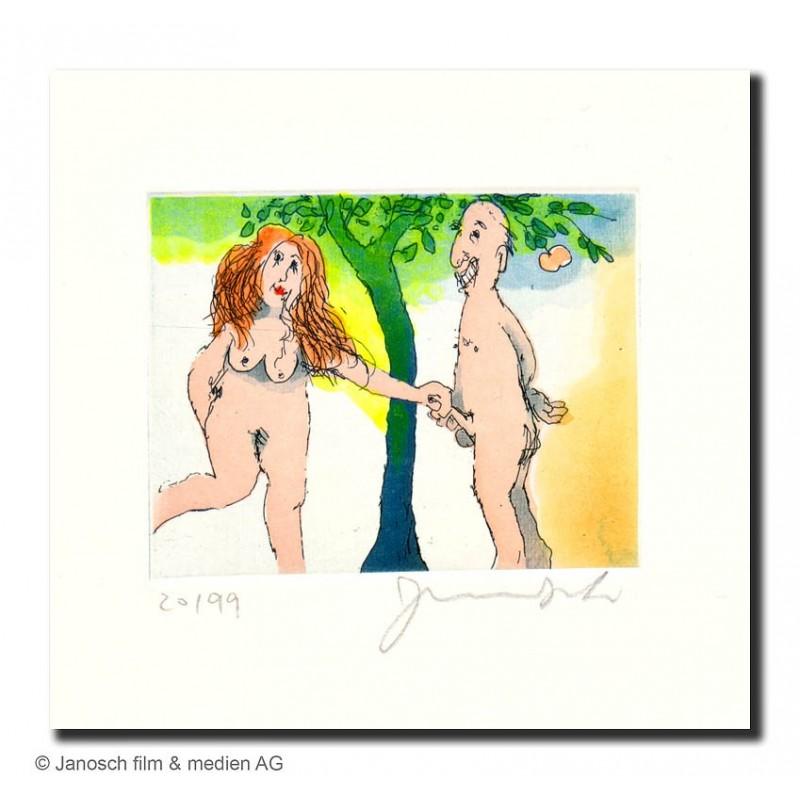 """Original Bild """"Paradiesvogel der I."""" von Janosch - Kunst mit Zertifikat kaufen"""
