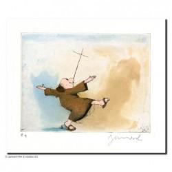 """Original Bild """"Pater+ Kreuz"""" von Janosch - Kunst mit Zertifikat kaufen"""