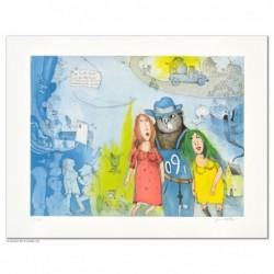 """Original Bild """"Sie heisst Marie und ich heisse Kater"""" von Janosch - Kunst mit Zertifikat kaufen"""