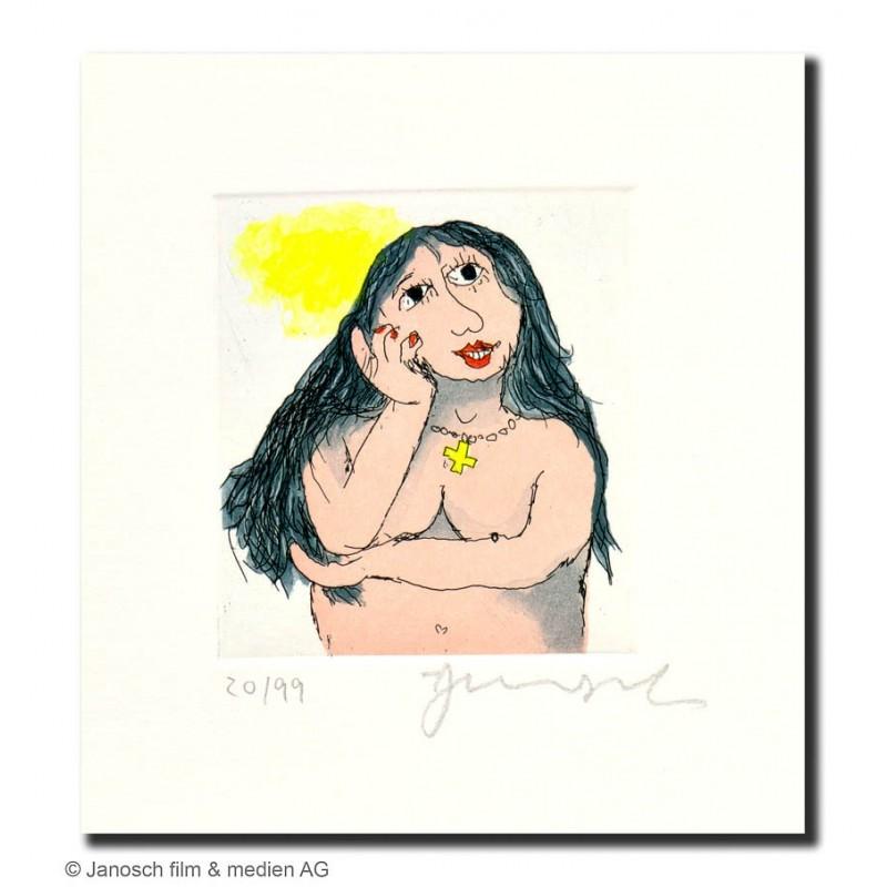 """Original Bild """"Susanne liebt den Nachbarn sehr"""" von Janosch - Kunst mit Zertifikat kaufen"""