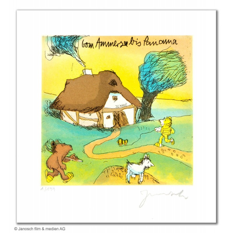 """Original Bild """"Vom Ammersee bis Panama"""" von Janosch - Kunst mit Zertifikat kaufen"""