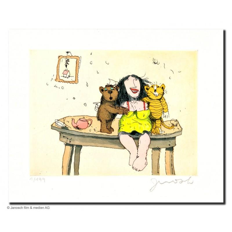 """Original Bild """"Wir sind Susi Wong"""" von Janosch - Kunst mit Zertifikat kaufen"""