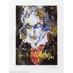 "Armin Mueller-Stahl ""Ludwig van Beethoven"" handsigniertes Original Kunst Bild kaufen"