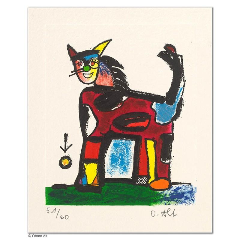"""Original Bild """"KALTBLÜTER"""" von Otmar Alt - Kunst mit Zertifikat kaufen"""