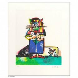 """Original Bild """"BALDUIN ALS BRAUTFÜHRER"""" von Otmar Alt - Kunst mit Zertifikat kaufen"""