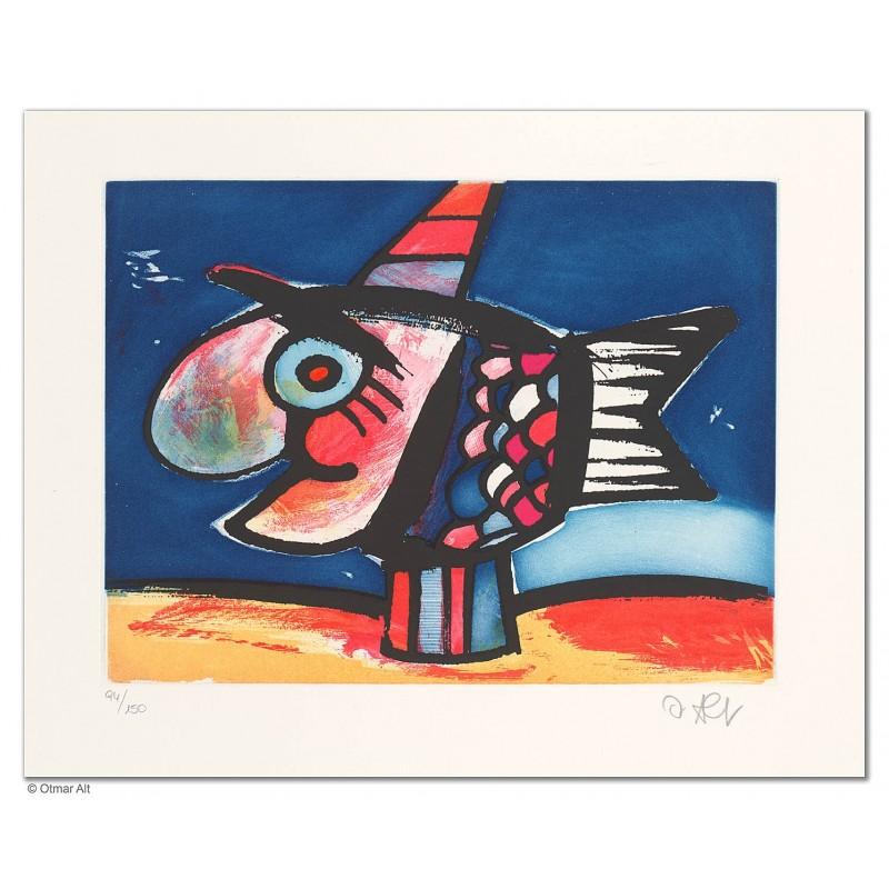 """Original Bild """"BIG FISH"""" von Otmar Alt - Kunst mit Zertifikat kaufen"""