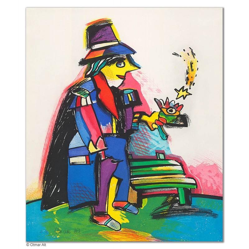 """Original Bild """"DER ZAUBERLEHRLING"""" von Otmar Alt - Kunst mit Zertifikat kaufen"""