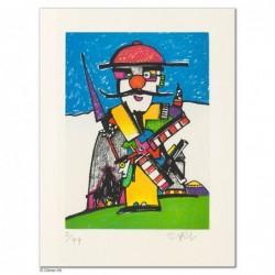 """Original Bild """"DON QUICHOTE IN GOSLAR"""" von Otmar Alt - Kunst mit Zertifikat kaufen"""