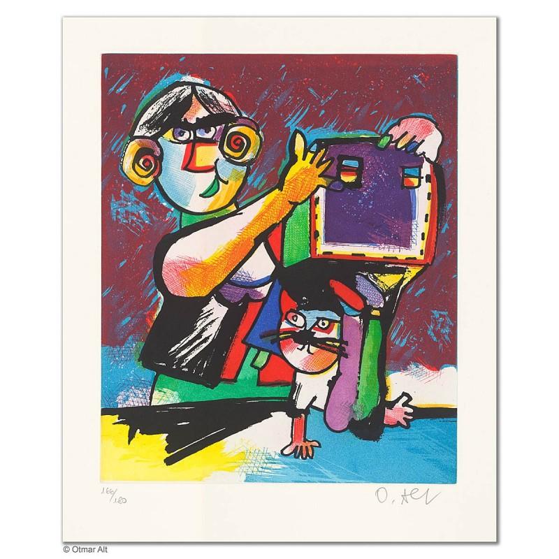 """Original Bild """"FRIDOLINS VERSTECK"""" von Otmar Alt - Kunst mit Zertifikat kaufen"""