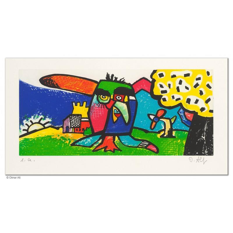 """Original Bild """"GUTEN ABEND"""" von Otmar Alt - Kunst mit Zertifikat kaufen"""