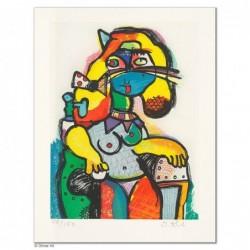 """Original Bild """"KÖNIGSMAPPE - PRINZESSIN"""" von Otmar Alt - Kunst mit Zertifikat kaufen"""