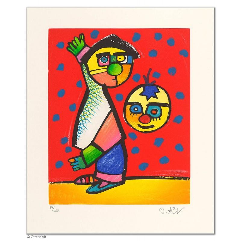 """Original Bild """"MANEGENZAUBER"""" von Otmar Alt - Kunst mit Zertifikat kaufen"""
