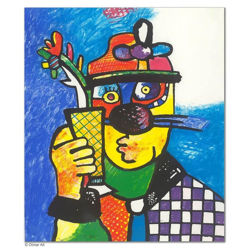"""Original Bild """"OKTOBERFEST"""" von Otmar Alt - Kunst mit Zertifikat kaufen"""