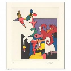 """Original Bild """"SPIEL MIT DER BLUME"""" von Otmar Alt - Kunst mit Zertifikat kaufen"""