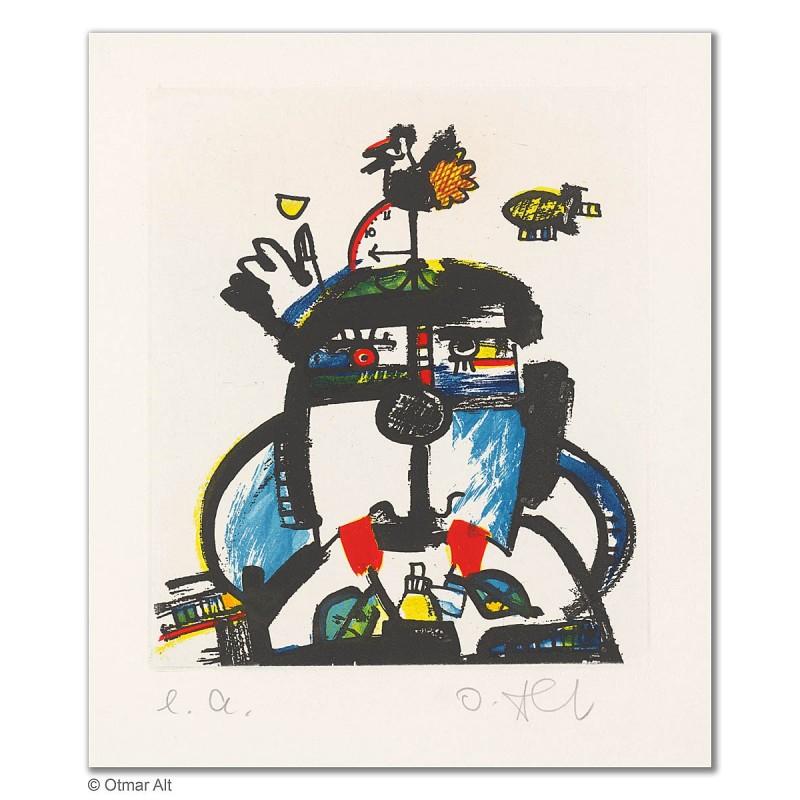 """Original Bild """"BESCHLEUNIGUNG"""" von Otmar Alt - Kunst mit Zertifikat kaufen"""