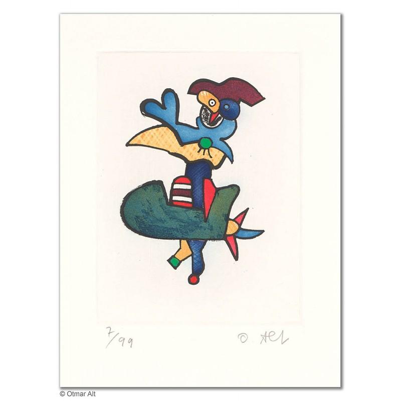 """Original Bild """"BLAUKAPPEN BEO"""" von Otmar Alt - Kunst mit Zertifikat kaufen"""