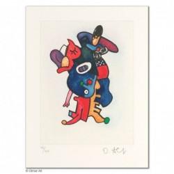 """Original Bild """"BLAUMANTEL MARABU"""" von Otmar Alt - Kunst mit Zertifikat kaufen"""