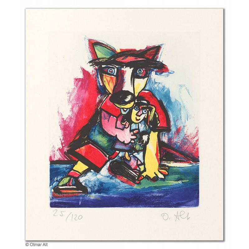 """Original Bild """"HANDPUPPENSPIELER"""" von Otmar Alt - Kunst mit Zertifikat kaufen"""